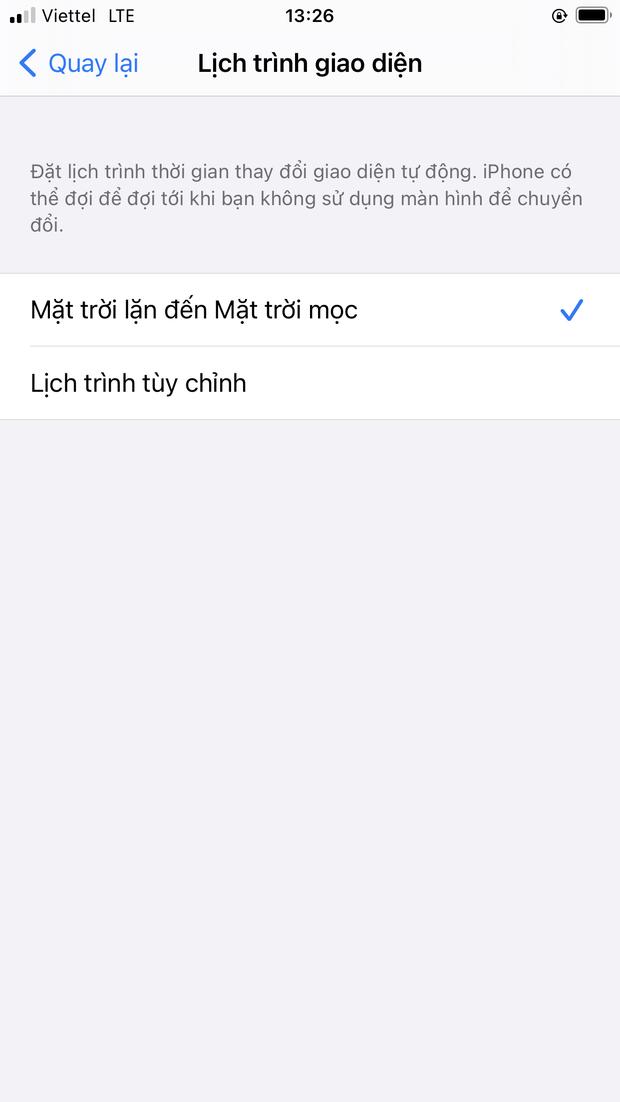 Dark Mode trên iOS thì cũng hay ho đấy, nhưng bạn đã biết cách để chuyển đổi tự động giữa 2 chế độ chưa? - Ảnh 7.