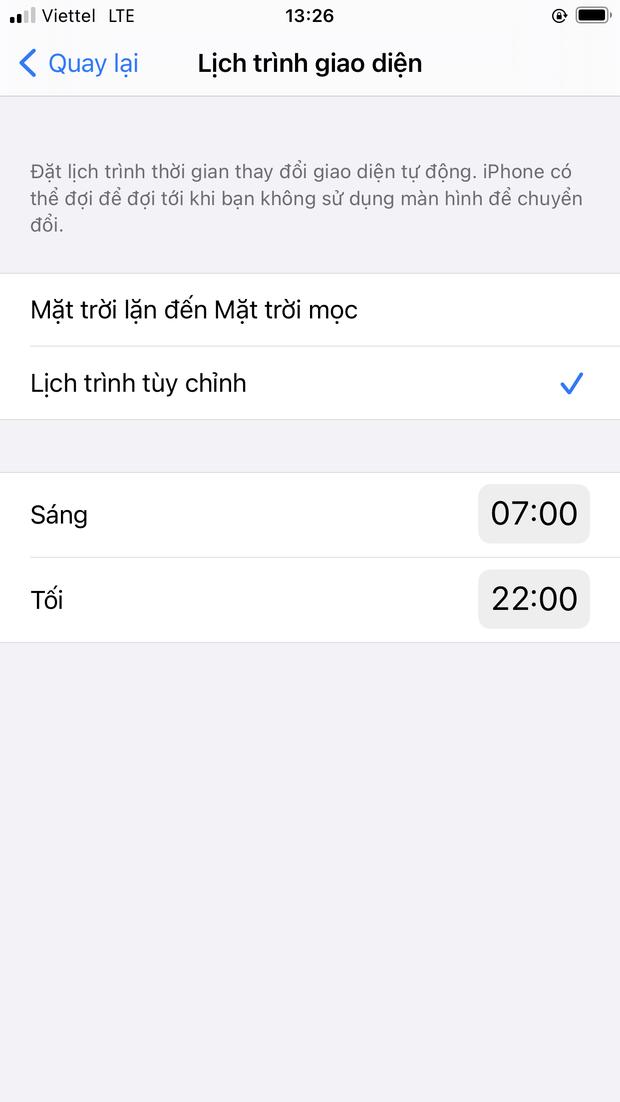 Dark Mode trên iOS thì cũng hay ho đấy, nhưng bạn đã biết cách để chuyển đổi tự động giữa 2 chế độ chưa? - Ảnh 8.