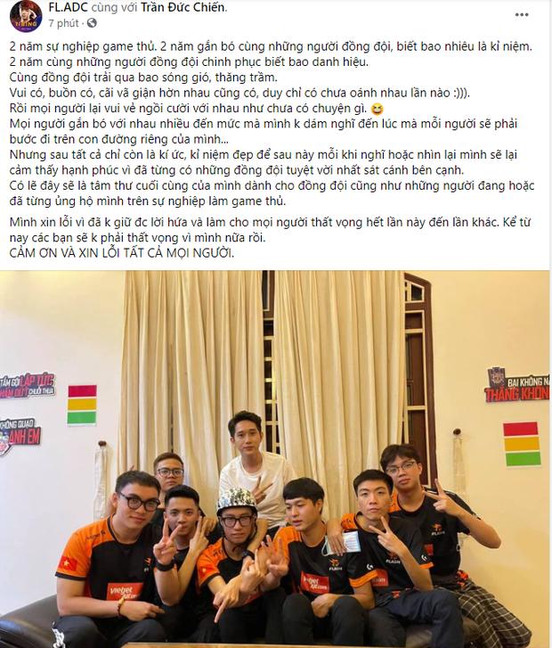 ADC bất ngờ viết tâm thư ẩn ý việc giải nghệ và rời Team Flash, cộng đồng Liên Quân Việt dậy sóng! - Ảnh 1.