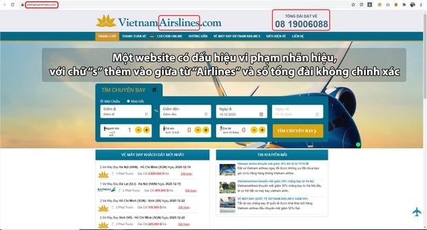 Vietnam Airlines Group khuyến cáo hành khách dịp cao điểm Tết: Cảnh giác với những website bán vé không chính thức, được thiết kế gần giống website chính thức của hãng - Ảnh 3.