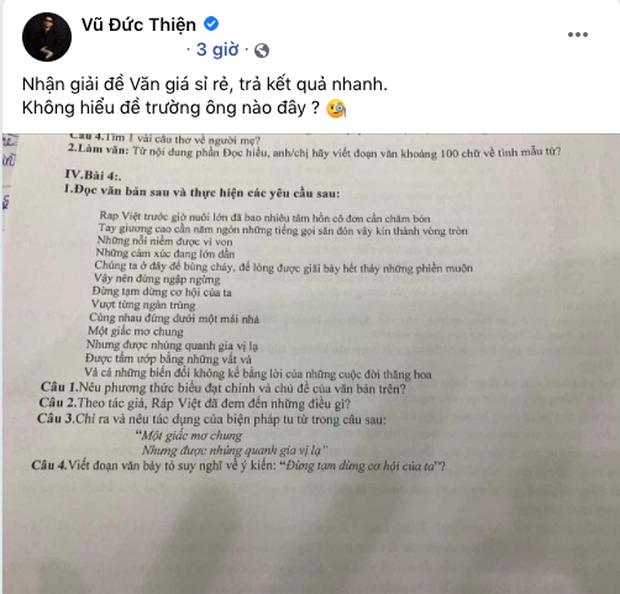 Rhymastic khoe verse rap trong ca khúc chủ đề Rap Việt vào đề Văn nhưng đã được netizen tiên tri từ 4 tháng trước? - Ảnh 1.