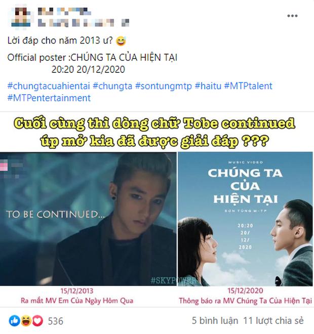 Góc thám tử: MV mới của Sơn Tùng M-TP sẽ là phần 2 nối tiếp Em Của Ngày Hôm Qua, soi thời điểm phát hành thấy trùng hợp đáng ngờ - Ảnh 1.