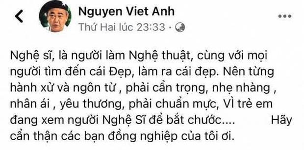 Biến căng: NS Việt Anh lên tiếng nhắc nhở đàn em nghệ sĩ, Cát Phượng phản hồi nhưng bị phản đối vì thái độ thiếu tôn trọng tiền bối - Ảnh 2.