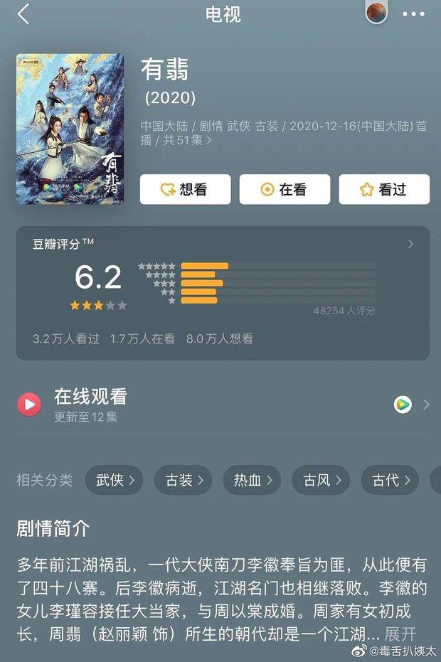 Hữu Phỉ chỉ được chấm 6,2 trên Douban, fan nháo nhào chê điểm số không đáng tin - Ảnh 2.