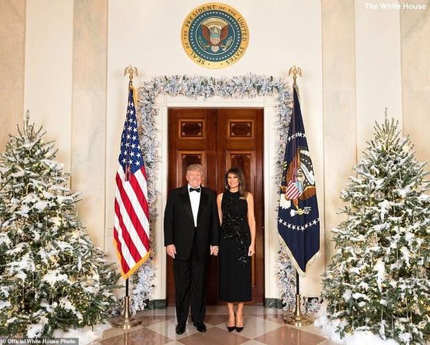 Vợ chồng Tổng thống Trump rạng rỡ trong ảnh Giáng sinh chính thức, dân mạng tinh mắt nhận ra một chi tiết gây khó hiểu - Ảnh 2.