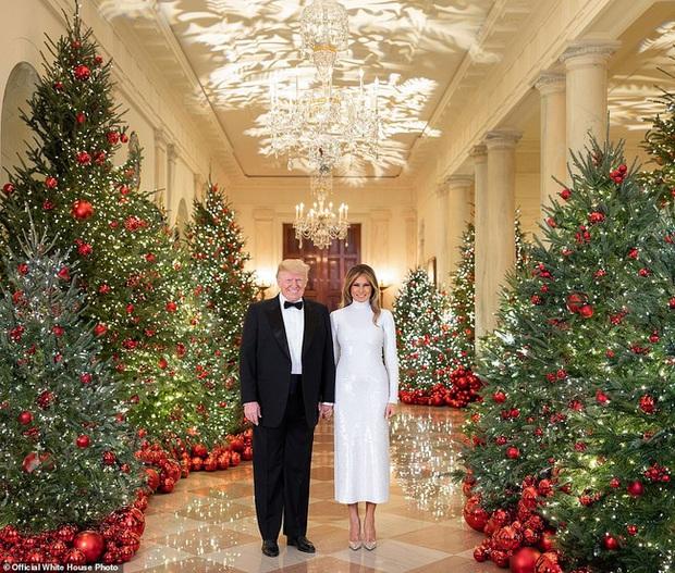 Vợ chồng Tổng thống Trump rạng rỡ trong ảnh Giáng sinh chính thức, dân mạng tinh mắt nhận ra một chi tiết gây khó hiểu - Ảnh 3.