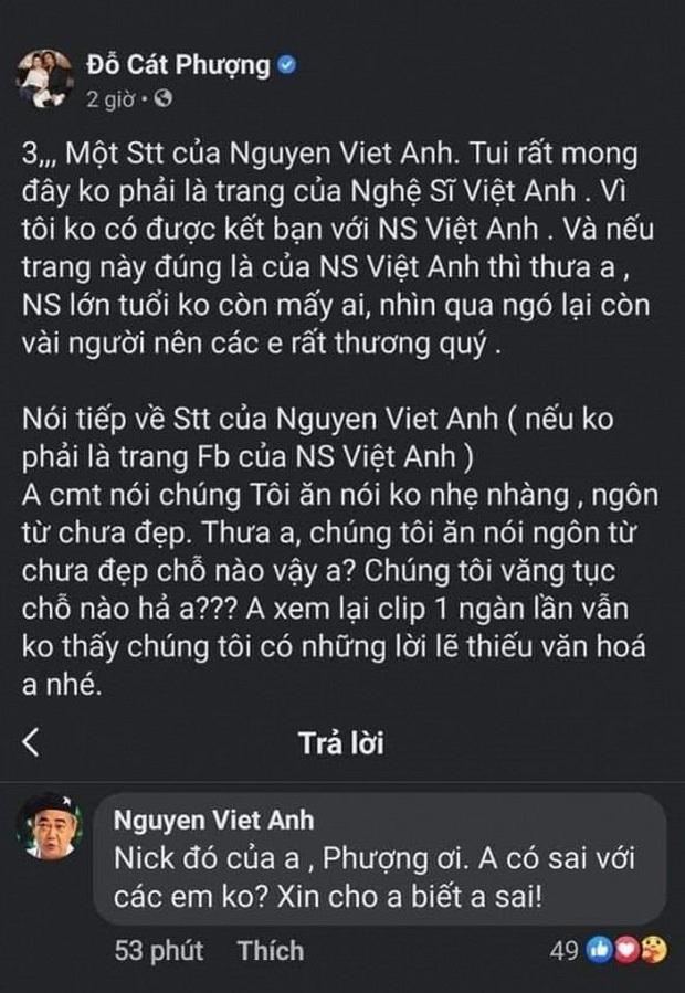 """Cát Phượng lên tiếng xin lỗi và đính chính phát ngôn thiếu tôn trọng NS Việt Anh: """"Mong anh hiểu và bỏ qua"""" - Ảnh 4."""
