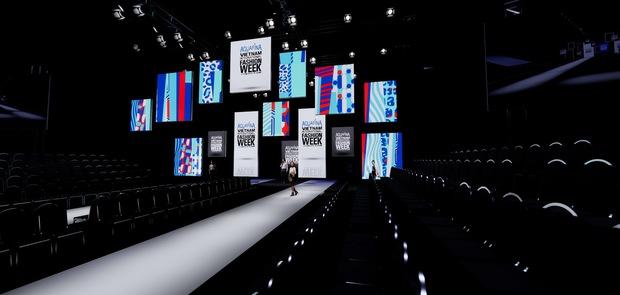 Cận cảnh sân khấu hoành tráng của Aquafina Vietnam International Fashion Week 2020: Cánh cửa cơ hội cao 11m, rộng 20m gây ấn tượng - Ảnh 2.