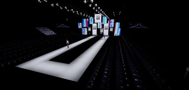 Cận cảnh sân khấu hoành tráng của Aquafina Vietnam International Fashion Week 2020: Cánh cửa cơ hội cao 11m, rộng 20m gây ấn tượng - Ảnh 3.