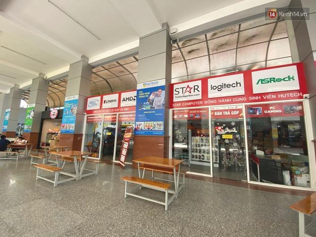 Đại học HUTECH vắng vẻ, các cửa hàng bên trong tạm dừng buôn bán sau khi BN1342 khai báo từng đến trường trong thời gian cách ly - Ảnh 4.