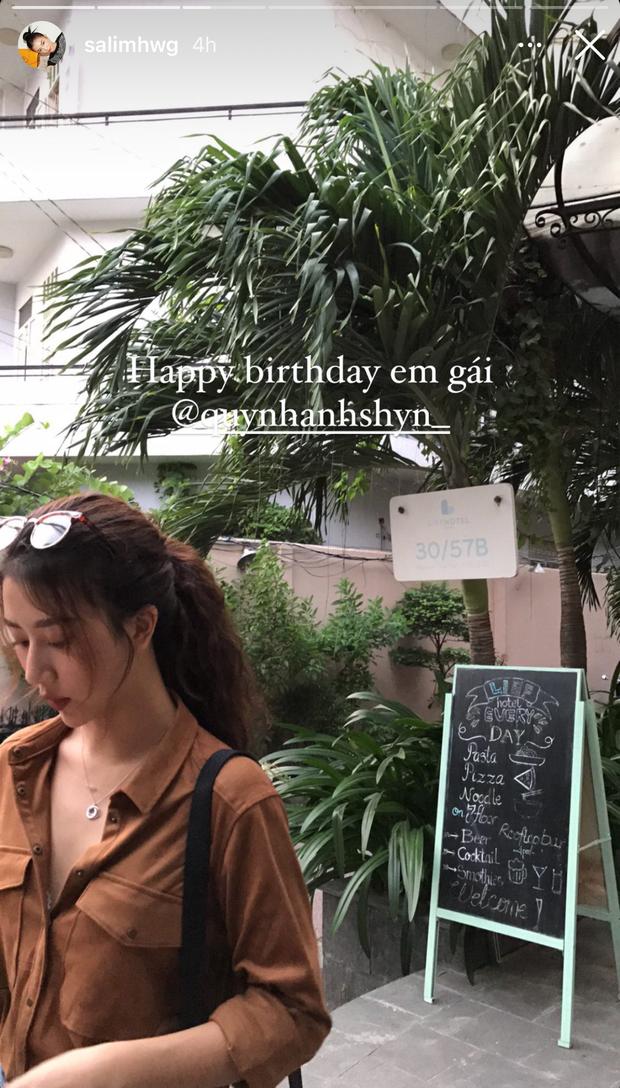 Chỉ có mình Salim chúc mừng sinh nhật Quỳnh Anh Shyn, hội chị em thân thiết một thời đâu rồi? - Ảnh 1.
