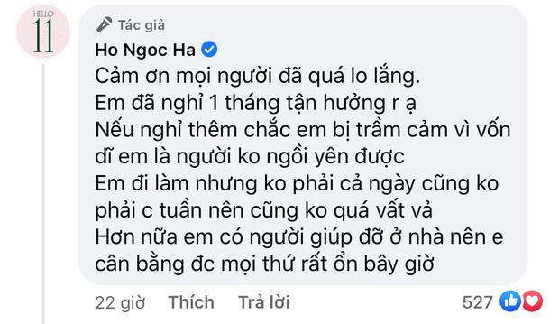 Bị netizen góp ý vì đi làm lại chỉ sau 1 tháng sinh đôi trai gái, Hà Hồ lên tiếng nói rõ luôn và ngay! - Ảnh 3.