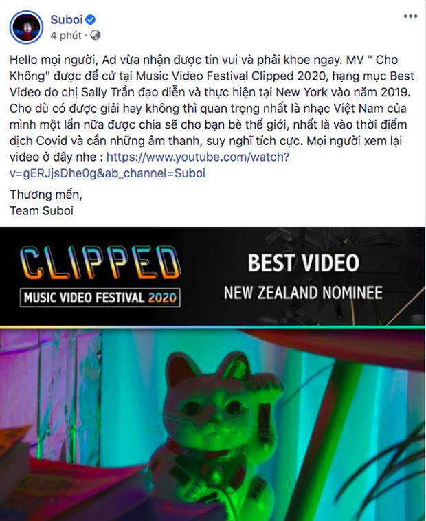 MV Cho Không ra mắt từ năm 2019 của Suboi bất ngờ được đề cử Video xuất sắc nhất tại lễ trao giải Úc - Ảnh 1.