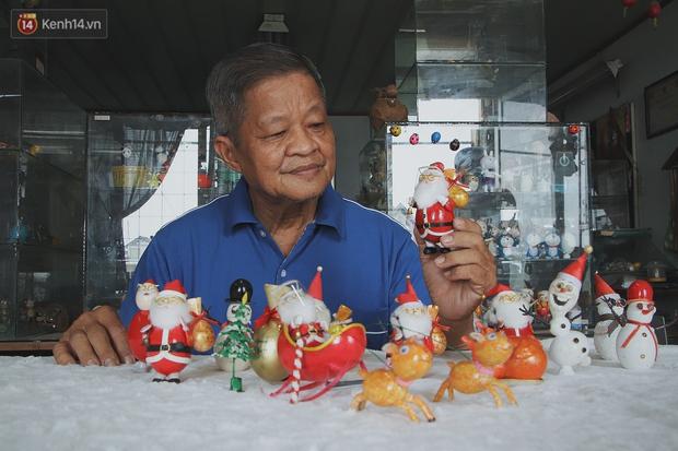Thầy giáo 70 tuổi biến vỏ trứng thành ông già Noel, sở hữu bộ sưu tập toàn vỏ trứng gà, trứng cút - Ảnh 3.