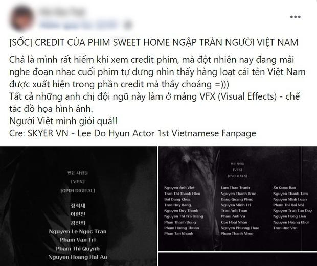 Dân tình ngã ngửa khi phát hiện người Việt cân phần kỹ xảo ở bom tấn nghìn tỉ Sweet Home, nhìn danh sách mà tự hào á! - Ảnh 1.