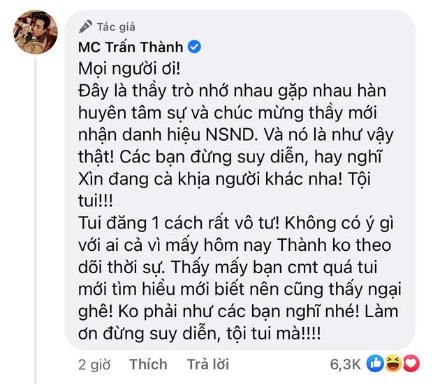 Trấn Thành lên tiếng nói rõ thực hư khi bị tố đăng ảnh bên NS Việt Anh để cà khịa hậu ồn ào Cát Phượng - Ảnh 3.