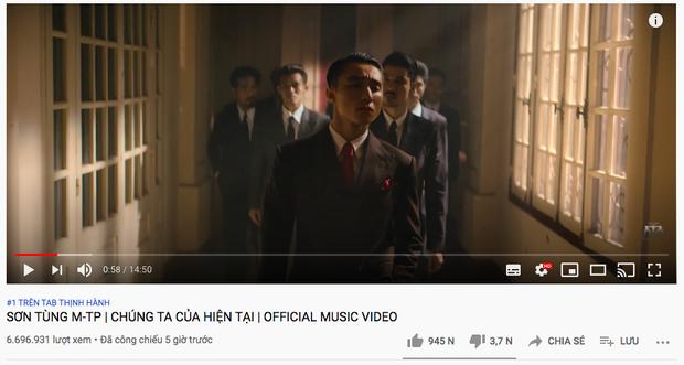 Bão chính thức đổ bộ: Sơn Tùng M-TP leo thẳng top 1 trending YouTube và #1 Châu Á sau 5 giờ lên sóng - Ảnh 1.