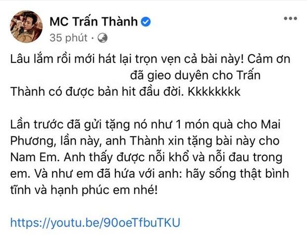 Sau khi gọi Nam Em là drama queen, Trấn Thành bất ngờ hát tặng và thổ lộ: Anh thấy được nỗi khổ đau trong em - Ảnh 2.