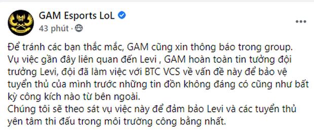 Quản lý SBTC và GAM Esports phản ứng quyết liệt, bảo vệ Levi trước tin đồn bán độ 100 triệu đồng - Ảnh 7.