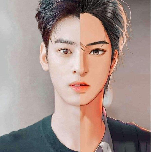 Cha Eun Woo giống nguyên mẫu truyện tranh True Beauty đến hú hồn, netizen mạnh miệng: Thì tác giả vẽ từ đó ra còn gì! - Ảnh 1.