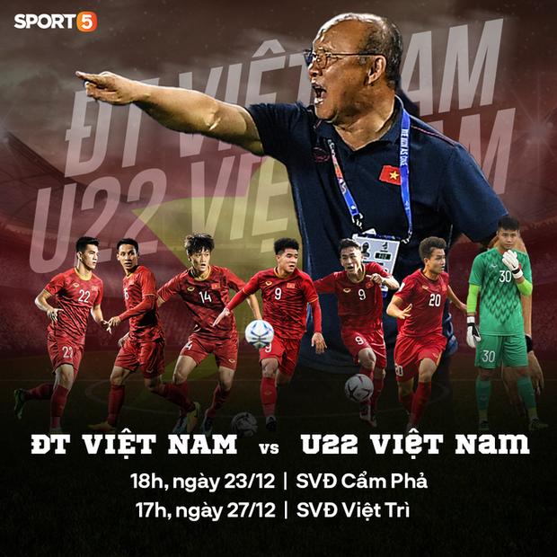 Lịch thi đấu giao hữu đội tuyển Việt Nam đấu U22 Việt Nam hôm nay - Ảnh 1.