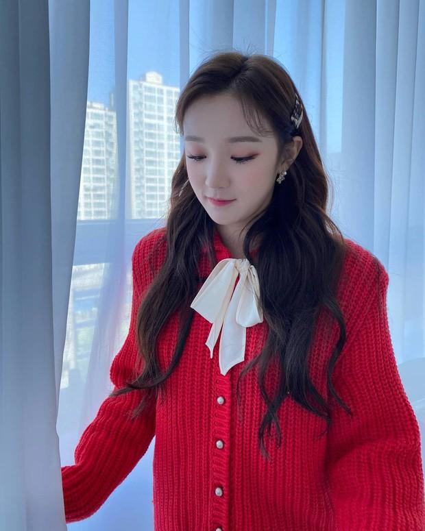 Style đón Giáng sinh đơn giản mà xinh xắn của sao Hàn, các nàng học được khối chiêu mặc đẹp đi chơi lễ - Ảnh 9.