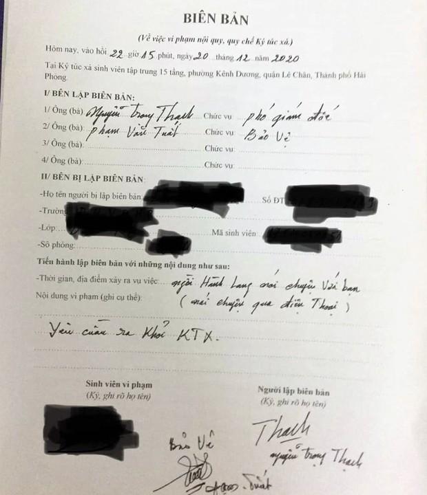 Nữ sinh ở Hải Phòng bị đuổi khỏi ký túc xá vì nghe điện thoại ở hành lang - Ảnh 1.