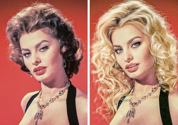 Bất ngờ với loạt hình ảnh khi các tượng đài nhan sắc trong quá khứ được làm tóc, make-up theo phong cách hiện đại, đẹp lại càng thêm đẹp - Ảnh 2.