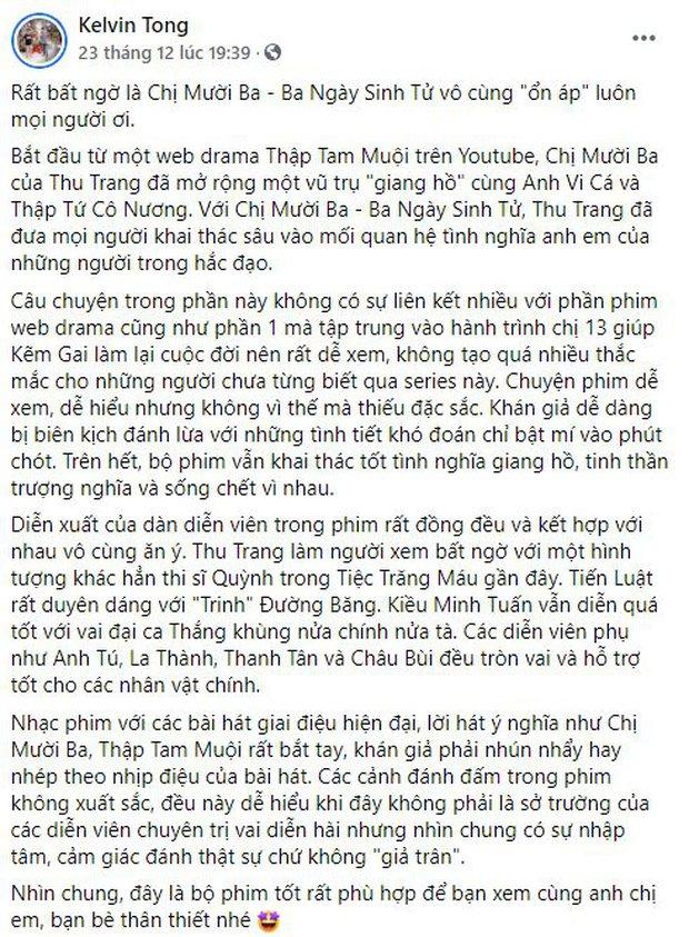 Netizen chia phe khen nhiều hơn chê Chị Mười Ba: Nội dung chất lượng, bi hài đều đủ nhưng Châu Bùi hơi đơ nha! - Ảnh 10.