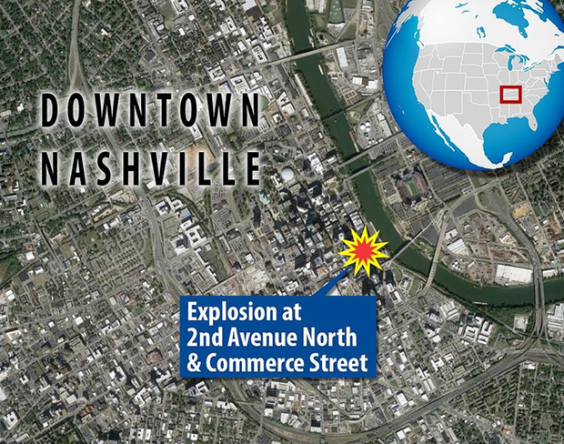 Khung cảnh tan hoang đến rợn người ở hiện trường vụ nổ Nashville - Ảnh 2.