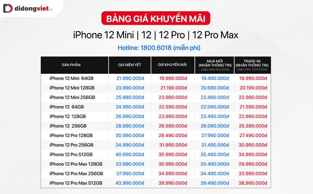 iPhone 12 chính hãng tại Việt Nam đang giảm giá vài triệu đồng mỗi chiếc - Ảnh 1.