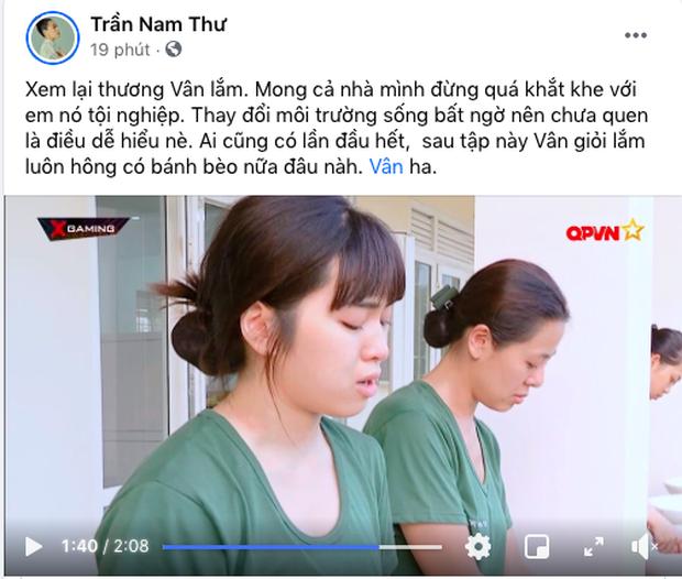 Giữa lúc Khánh Vân bị chỉ trích vì thái độ trong Sao Nhập Ngũ, Nam Thư lên tiếng tiết lộ tính cách thật của đàn em - Ảnh 3.