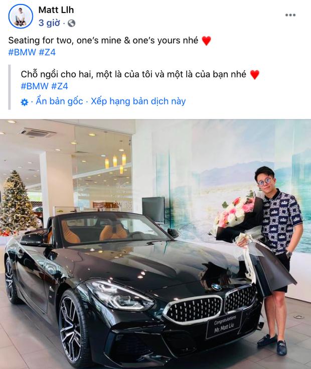 Thánh ngôn tình gọi tên Matt Liu: Câu hứa bên Hương Giang lúc thị phi cũng chưa hot bằng lời tỏ tình bên siêu xe mới cứng  - Ảnh 2.