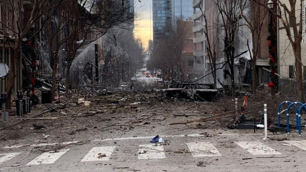 Vụ nổ ở Nashille bị nghi là đánh bom tự sát - Ảnh 1.