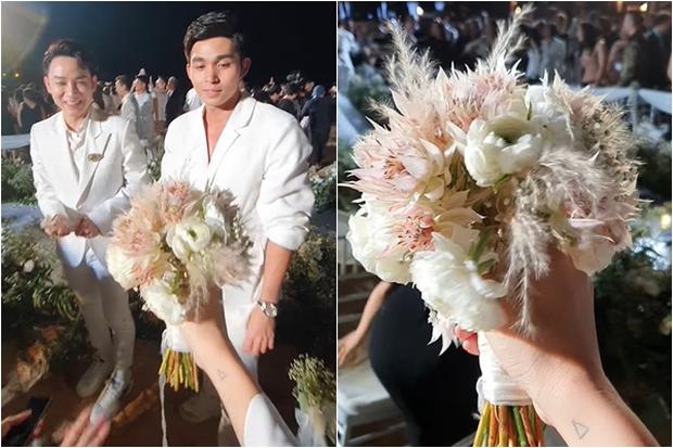 Điềm báo từ đám cưới Đông Nhi: Ngô Thanh Vân đã né nhưng vẫn nhận hoa cưới, đúng 1 năm sau dính tin hẹn hò Huy Trần - Ảnh 5.