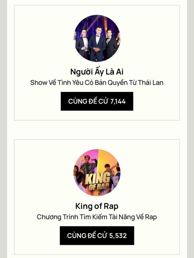 Rap Việt dẫn đầu đề cử TV show của năm tại WeChoice với số phiếu áp đảo, Ký Ức Vui Vẻ bất ngờ vươn lên hạng 2 - Ảnh 3.