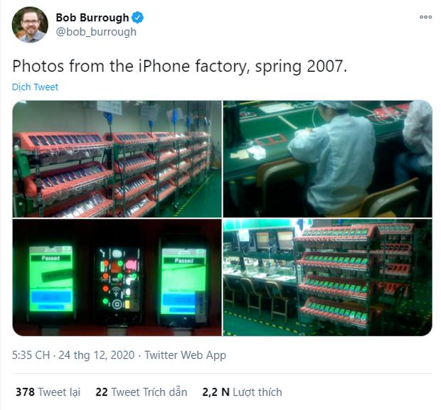 Những bức ảnh hiếm hoi về dây chuyền sản xuất chiếc iPhone đầu tiên năm 2007, cư dân mạng lại rần rần nhắc về quá khứ đen tối của Apple - Ảnh 2.
