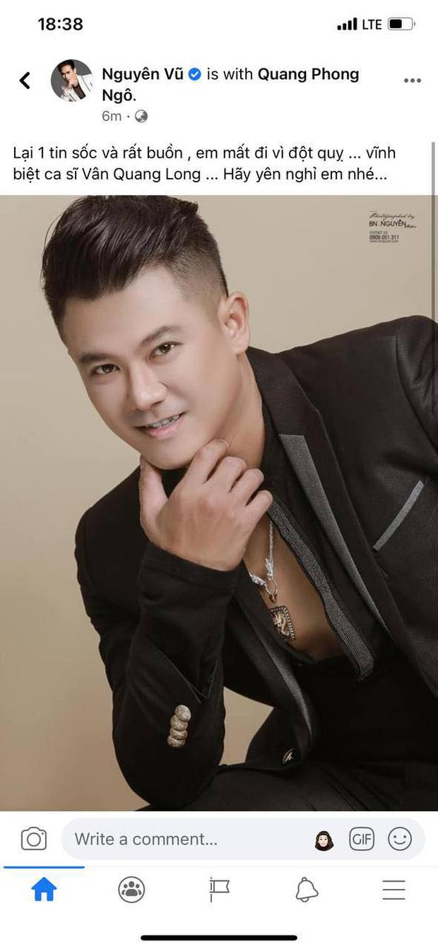Đan Trường, Nhật Kim Anh và dàn sao Việt bàng hoàng, bật khóc nói lời tiễn biệt ca sĩ Vân Quang Long - Ảnh 4.