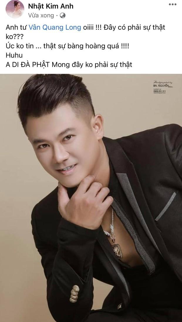 Đan Trường, Nhật Kim Anh và dàn sao Việt bàng hoàng, bật khóc nói lời tiễn biệt ca sĩ Vân Quang Long - Ảnh 3.