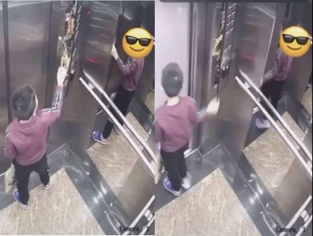 Cậu nhóc nhấn liên tục bảng điều khiển thang máy, hành động nguy hiểm sau đó khiến ai xem cũng rùng mình - Ảnh 2.