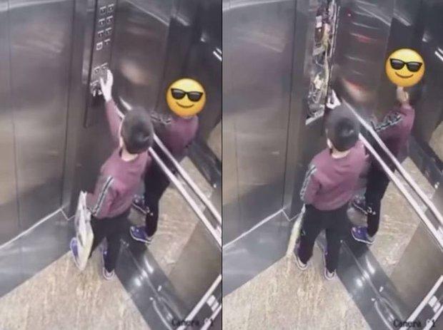 Cậu nhóc nhấn liên tục bảng điều khiển thang máy, hành động nguy hiểm sau đó khiến ai xem cũng rùng mình - Ảnh 1.