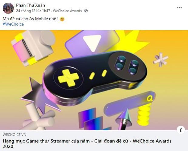 WeChoice Awards 2020 chính thức có hạng mục mới Game thủ/ Streamer của năm, cộng đồng hào hứng đón nhận - Ảnh 5.