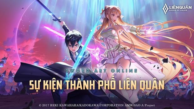 Liên Quân Mobile tiếp tục tái hợp Sword Art Online, game thủ sẽ được nhận miễn phí một skin cực chất - Ảnh 1.