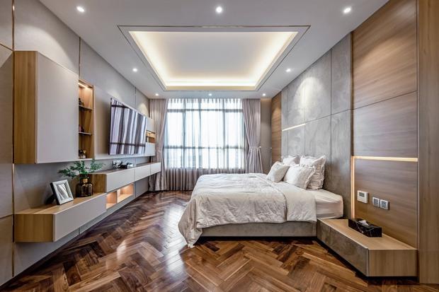 Đầu tư 5 tỷ, cặp vợ chồng biến nhà thô thành penthouse sang xịn mịn với style tối giản cực mê - Ảnh 14.