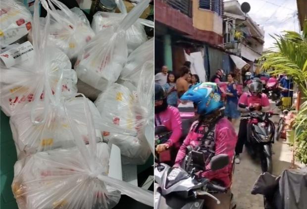 Mạng lag, bé gái 7 tuổi chốt đơn nhầm nhọt, 42 anh shipper áo hồng với full combo gà rán, khoai tây... náo loạn cả khu phố - Ảnh 2.