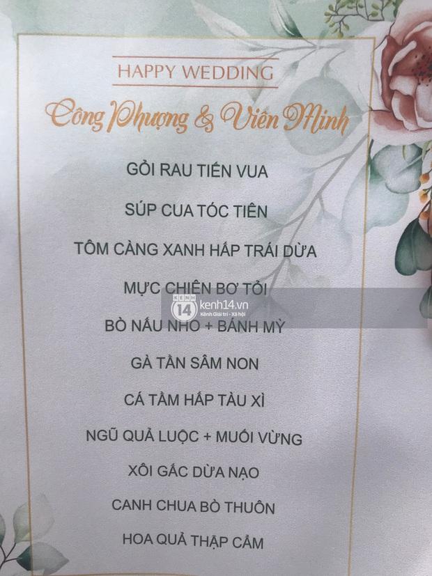 Cận cảnh menu đám cưới ở quê nhà Công Phượng: Tận 11 món nhưng chẳng thấy đặc sản xứ Nghệ nào - Ảnh 1.
