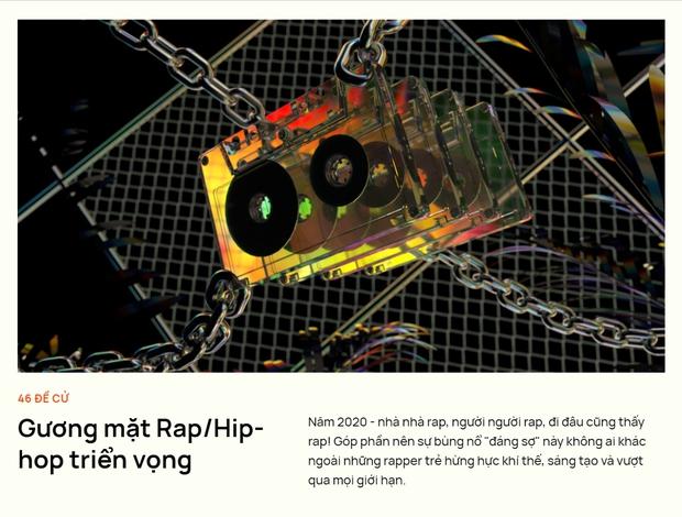 Thị trường nhạc Việt 2020 đón nhận loạt rapper đầy triển vọng: Rap Việt và King Of Rap đóng góp dàn thí sinh quá chất lượng! - Ảnh 1.