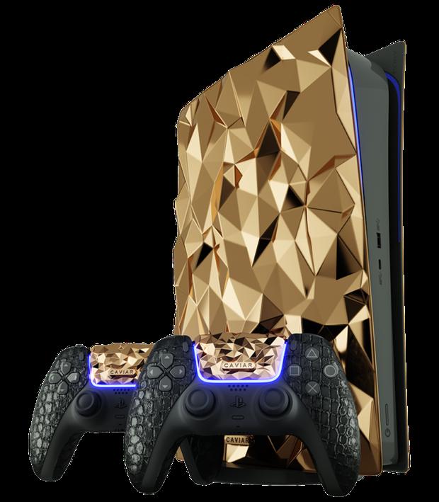 Hết iPhone 12, đến lượt máy chơi game PlayStation 5 được phủ 20kg vàng nguyên khối - Ảnh 3.