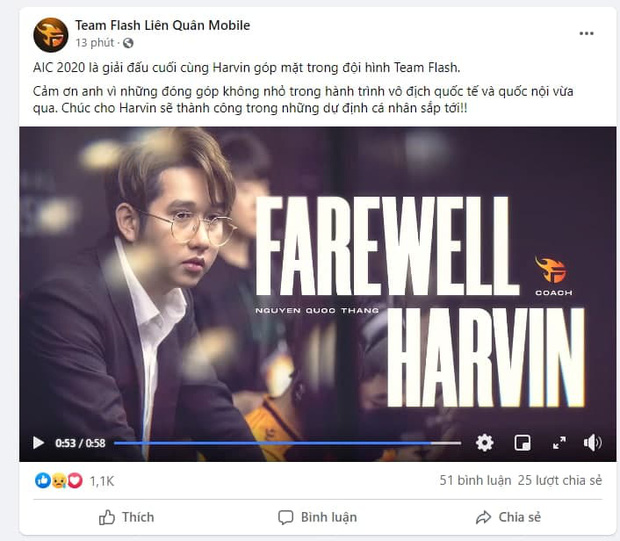 Sau ADC, HLV Harvin là người tiếp theo rời Team Flash - Ảnh 2.