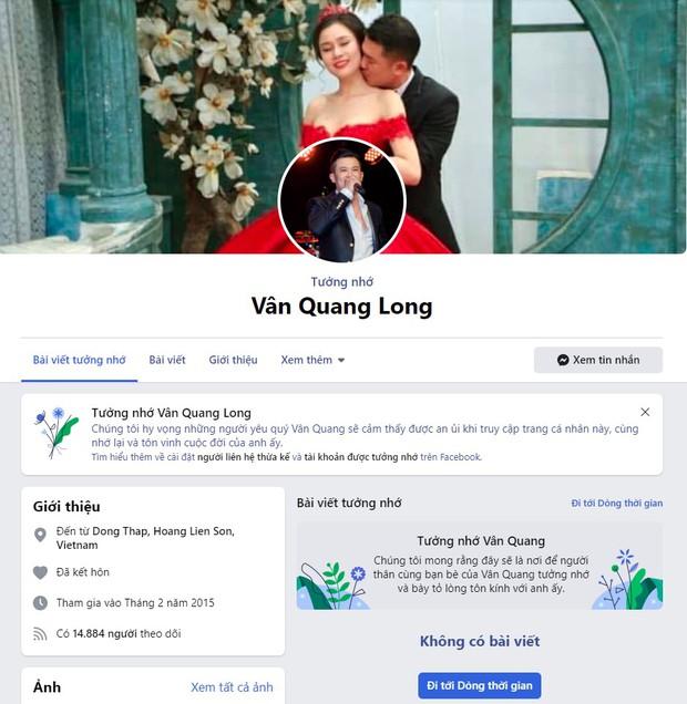 1 ngày sau khi qua đời, Facebook cố NS Vân Quang Long chuyển sang chế độ đặc biệt khiến nhiều người xúc động - Ảnh 2.